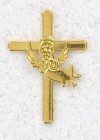 Cross with Angel Lapel Pin (12 pieces per order)