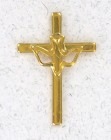 Cross with Holy Spirit Lapel Pin (12 pieces per order)