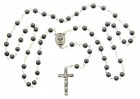 First Communion Hematite Rosary with Chalice Centerpiece