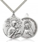 Double Sided Our Lady of Perpetual Help and Sacred Heart Medal