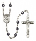 Men's St. Ambrose Silver Plated Rosary