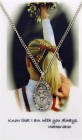 Girls St. Christopher Cheerleading Medal with Prayer Card