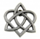 Celtic Trinity Heart Lapel Pin - 1""