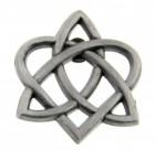 """Celtic Trinity Heart Lapel Pin - 1"""""""