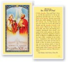 Novena To Sts Peter and Paul Laminated Prayer Cards 25 Pack