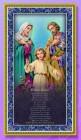 Holy Family Italian Prayer Plaque
