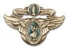 Our Lady of the Highway & St. Christopher Visor Clip