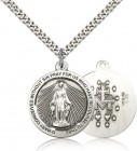 Rays of Light Miraculous Medal Necklace