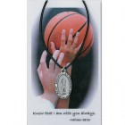 Girl's St. Christopher Basketball Medal with Prayer Card