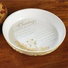 Christmas is a Journey Pie Plate