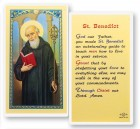 St. Benedict, God Our Father Laminated Prayer Cards 25 Pack