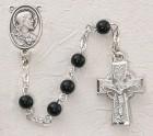 Irish First Communion Sacred Heart Rosary - Rhodium
