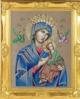 Our Lady of Perpetual Help Gold Leaf Framed Print