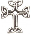 "Celtic Knot Cross Lapel Pin - 1"" H"