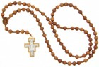 Franciscan Crown 7 Decade Wood Rosary - 8mm
