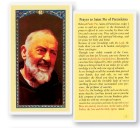 Prayer To St. Pio Laminated Prayer Cards 25 Pack