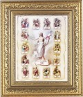 Stations of the Cross Illustrated Framed Print