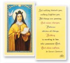 St. Teresa of Avila Bookmark Laminated Prayer Cards 25 Pack