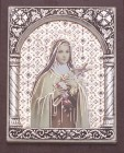 St. Therese Mozaic Standing Plaque