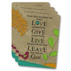 From this Moment on... Prayer Cards - pack of 25