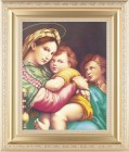 Madonna and Child with Saint Gabriel Framed Print