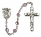 St. Michael the Archangel Sterling Silver Heirloom Rosary Squared Crucifix