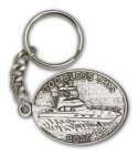 God Bless This Boat Keychain