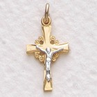 Women's Elegant Center Gold Plated Crucifix Pendant