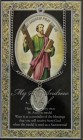 St. Andrew Medal in Pewter with Bi-Fold Prayer Card
