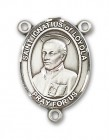 St. Ignatius of Loyola Rosary Centerpiece Sterling Silver or Pewter