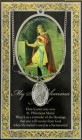 St. Philomena Medal in Pewter with Bi-Fold Prayer Card