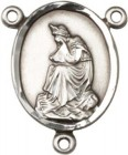 Our Lady of La Salette Sterling Silver Rosary Centerpiece