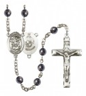 Men's St. Michael Marines Silver Plated Rosary