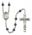Men's St. Elizabeth of Hungary Silver Plated Rosary