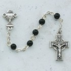 Boy's Celtic First Communion Rosary in Pewter