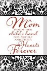 A Mom Holds Her Child's Hand Glass Plaque