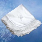 Girl's Poly Satin Blanket with Venise Cross