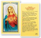 Novena Prayer To The Immaculate Heart of Mary Laminated Prayer Cards 25 Pack
