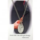 Boys St. Christopher Tennis Medal with Prayer Card