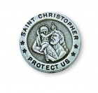Silver St. Christopher Lapel Pin