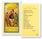 Prayer To Most Holy Trinity Laminated Prayer Cards 25 Pack