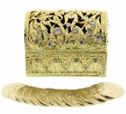 Gold Tone Arras in Treasure Chest Keepsake Box