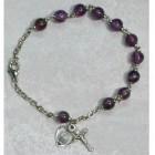 February Amethyst Rosary Bracelet - Adult
