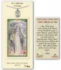 St. Catherine of Siena Medal in Pewter with Prayer Card