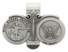 St. Michael U.S. Navy Visor Clip Pewter