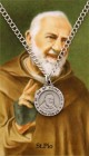 Round St. Pio Medal with Prayer Card Set