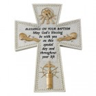 Baptism Wall Cross - 6 inch