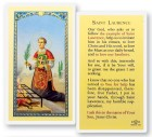 Prayer To St. Laurence Laminated Prayer Cards 25 Pack
