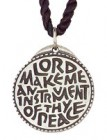 Round Lord Make Me an Instrument of Your Peace Pendant