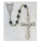 Youth Hematite Rosary, 3mm